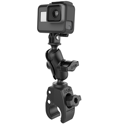 RAM-B-400-A-GOP1U - RAM Tough-Claw Small Clamp Mount with Universal Action Camera Adapter