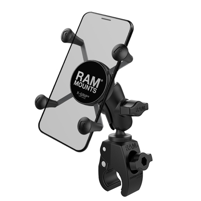 RAM-B-400-A-HOL-UN7BU - RAM X-Grip Phone Mount with RAM Tough-Claw Small Clamp Base