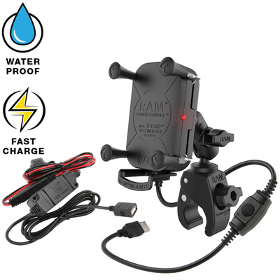 RAM-B-400-A-UN12W-V7M - RAM Tough-Charge Waterproof Wireless Charging Mount with Tough-Claw