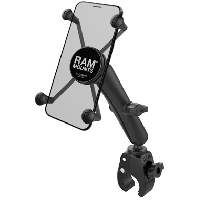 RAM-B-400-C-UN10U - RAM X-Grip Large Phone Mount with RAM Tough-Claw Small Clamp Base