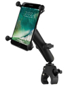 RAM-B-400-C-UN10U - RAM Small Tough-Claw™ Base with Long Double Socket Arm and Universal X-Grip® (Patented) Large Phone/Phablet Cradle