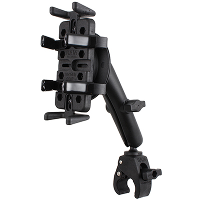 RAM-B-400-C-UN4-ROTO1U - RAM Finger-Grip with Tough-Claw Small Clamp Mount & RAM Roto-View