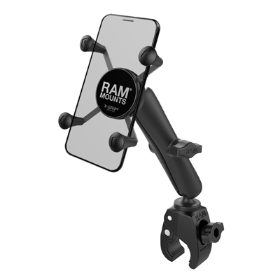 RAM-B-400-C-UN7U - RAM X-Grip Phone Mount with RAM Tough-Claw Small Clamp Base