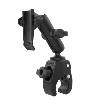 RAM-B-400-GA76U - RAM Tough-Claw Small Clamp Mount with Garmin Spine Clip Holder