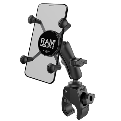 RAM-B-400-HOL-UN7BU - RAM X-Grip Phone Mount with RAM Tough-Claw Small Clamp Base