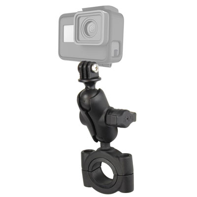 RAM-B-408-112-15-A-GOP1U - RAM Torque Large Rail Base with Universal Action Camera Adapter