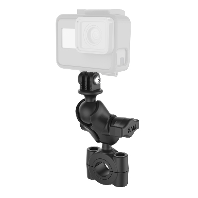 RAM-B-408-75-1-A-GOP1U - RAM Torque Medium Rail Base with Universal Action Camera Adapter