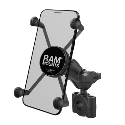RAM-B-408-75-1-A-UN10 - RAM X-Grip Large Phone Mount with RAM Torque Medium Rail Base