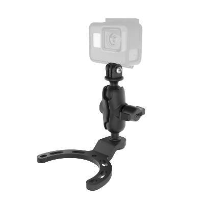 RAM-B-410-A-GOP1U - RAM Small Gas Tank Mount with Universal Action Camera Adapter