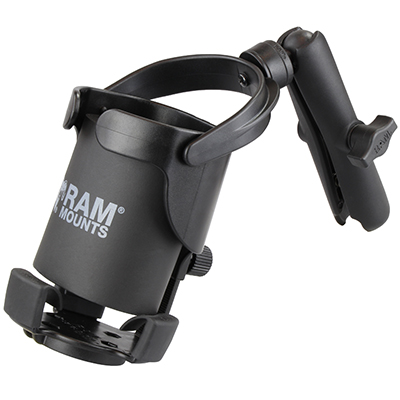 RAM-B-417B-C-201U - RAM Level Cup XL 32oz Drink Holder with Double Socket Arm