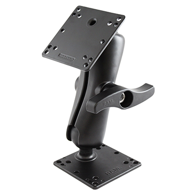 RAM-D-101-NEC1U - RAM Double Ball Mount with Two 100x100mm VESA Plates and Large Knob