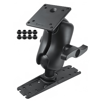 RAM-E-111U-D-246 - RAM Ball Mount with 100x100mm VESA Plate & Large Electronics Plate