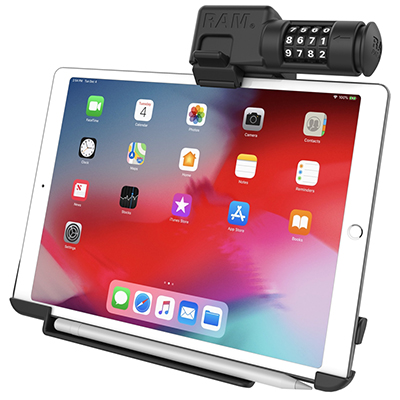 "RAM-HOL-AP23CLU - RAM EZ-Roll'r Combo Locking Holder for iPad Pro 11"" & Air 4"