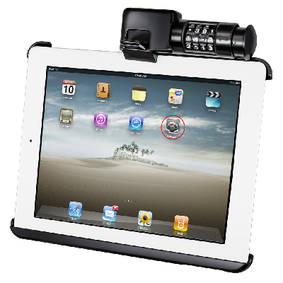 RAM-HOL-AP8LU - RAM Latch-N-Lock Cradle for Apple iPad 1-4
