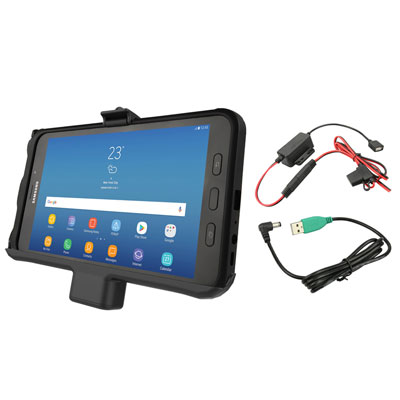 RAM-HOL-SAM7PA-HARU - RAM EZ-Roll'r Powered Cradle for Samsung Tab Active2 with Charger