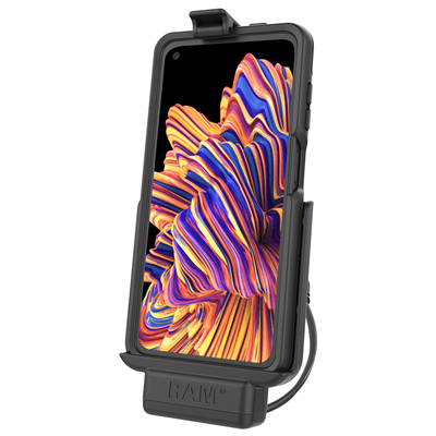 RAM-HOL-SAM9P-OT2U - RAM Powered Cradle for Samsung XCover Pro with OtterBox uniVERSE