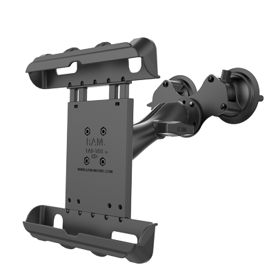 RAM-HOL-TAB17-189BU - RAM Tab-Tite Tablet Mount with RAM Twist-Lock Double Suction Cup