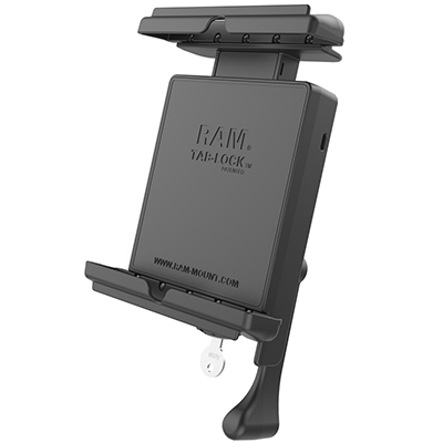 "RAM-HOL-TABL12U - RAM Tab-Lock Universal Spring Loaded Holder for 8"" Tablets with Case"