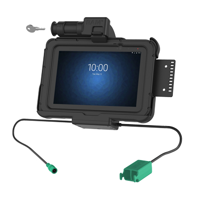 "RAM-HOL-ZE10PD2KLU - GDS Key Locking Power + Dual USB Dock for Zebra ET5x 8.3"" & 8.4"" Series"