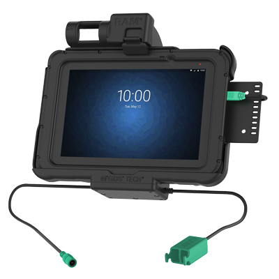 "RAM-HOL-ZE10PD2U - GDS Power + Dual USB Dock for Zebra ET5x 8.3"" & 8.4"" Series"