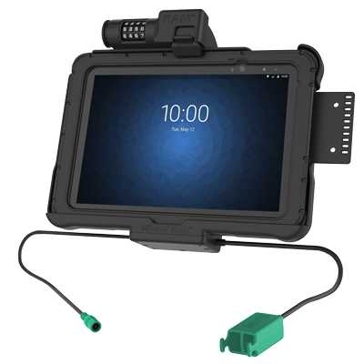 "RAM-HOL-ZE11PD2CLU - GDS Combo Locking Power + Dual USB Dock for Zebra ET5x 10.1"" Series"