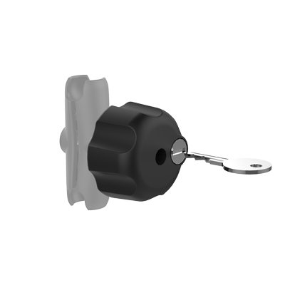 RAM-KNOB3LSU - RAM Key Lock Knob with Steel Insert for B Size Socket Arms
