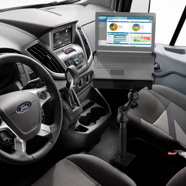 Ram No Drill Laptop Mount For The Ford Transit Full Size Van Vb 194 Sw1 Mounts