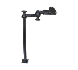 "RAM-VP-SW1-1218-240 - RAM Tele-Pole with 12"" & 18"" Poles, Swing Arms & Large Round Plate"
