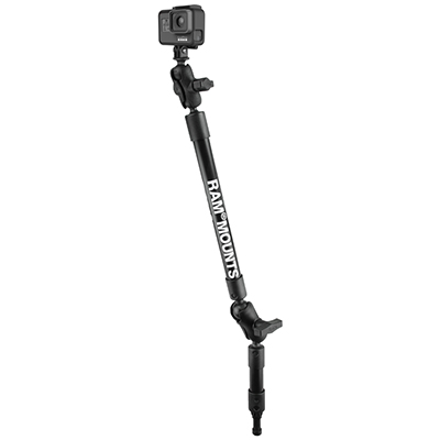 "RAP-114-PSP-4-12-A-GOP1 - RAM Tough-Pole 27"" Camera Mount with Spline Post"