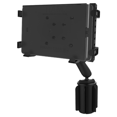 RAP-299-3-C-234-6U - RAM Tough-Tray II Tablet Holder with RAM-A-CAN II Cup Holder Mount