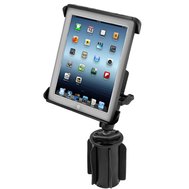 RAP-299-3-C-TAB3U - RAM Tab-Tite Holder with RAM-A-CAN II Cup Holder Mount for iPad 1-4