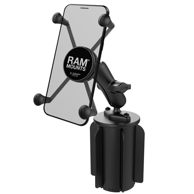 RAP-299-3-UN10U - RAM-A-CAN 2 UNVRSL CUP HOLDER RAM X-GRIP 5""