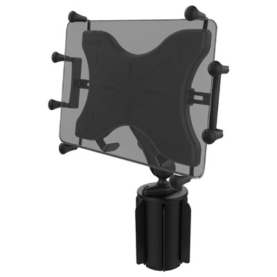 "RAP-299-3-UN11U - RAM X-Grip with RAM-A-CAN II Cup Holder Mount for 12"" Tablets"