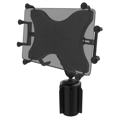 "RAP-299-3-UN9U - RAM X-Grip with RAM-A-CAN II Cup Holder Mount for 9""-10"" Tablets"