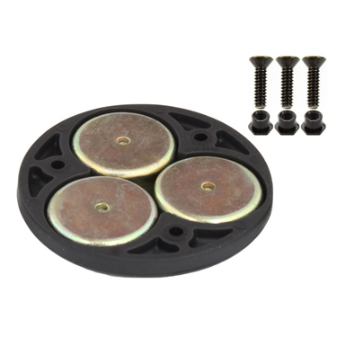 "RAP-339U - UNPKD. RAM 2.5"" DIA TRIPLE MAGNETIC BASE"