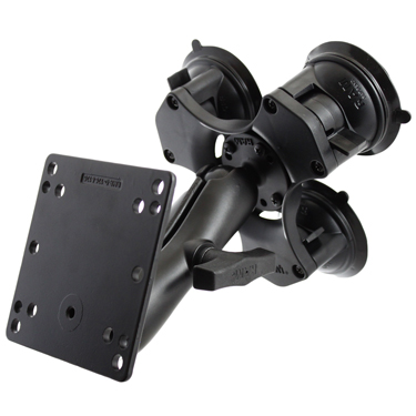RAP-365-101-246U - RAM Twist-Lock Triple Suction Cup Mount with 100x100mm VESA Plate