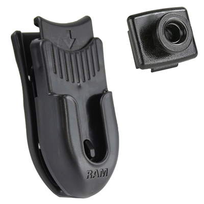 RAP-382-CLIP1U - RAM Belt Clip Holder & Button Adapter for IntelliSkin HD