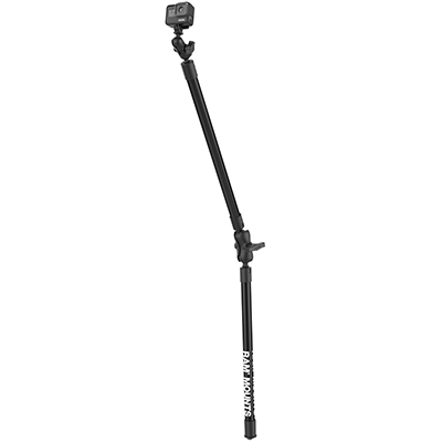 RAP-425-18-18-A-GOP1 - RAM DBL 18 LNG CAMERA ARM W/ GOPRO ADAPT