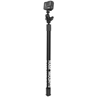 "RAP-425-18-A-GOP1 - RAM 18"" LNG CAMERA ARM W/ GOPRO ADAPT"