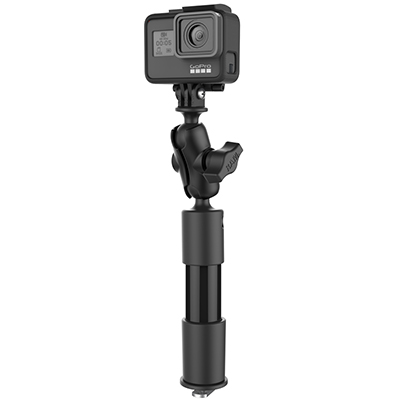 "RAP-425-4-A-GOP1 - RAM 4"" LNG CAMERA ARM W/ GOPRO ADAPT"