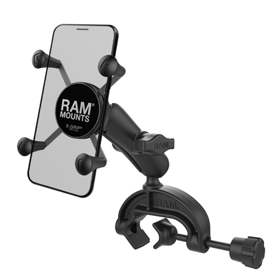 RAP-B-121-UN7U - RAM X-Grip Phone Mount with Composite Yoke Clamp Base