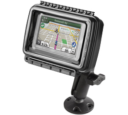 RAP-B-138-AQ6 - RAM Aqua Box Medium Wide Device Mount with Composite Drill-Down Base
