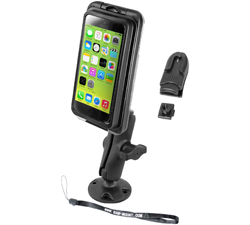 RAP-B-138-AQ7-2-I5 - RAM Aqua Box Pro 20 Composite Drill-Down Mount for Apple iPhone 5
