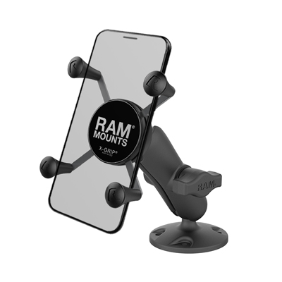 RAP-B-138-UN7U - RAM X-Grip High-Strength Composite Phone Mount with Drill-Down Base