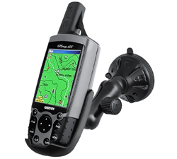 RAP-B-166-2-GA12U - RAM Twist-Lock Low Profile Suction Mount for Garmin GPS 60 + More