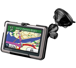 RAP-B-166-2-GA35 - RAM Twist-Lock Low Profile Suction Mount for Garmin nuvi 1440 + More