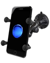 RAP-B-166-2-UN7U - RAM Composite Twist Lock Suction Cup Mount with Universal X-Grip® (Patented) Cell Phone Cradle