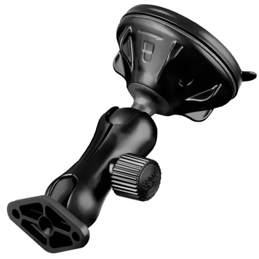 RAP-B-166-2U - RAM Twist-Lock Low Profile Suction Cup Double Ball Mount