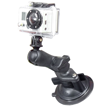 RAP-B-166-GOP1 - RAM Twist-Lock Composite Suction Mount with Action Camera Adapter