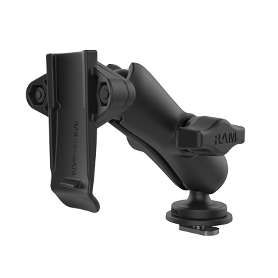 RAP-B-202-GA76-TRA1U - RAM Track Ball Double Ball Mount with Garmin Spine Clip Holder
